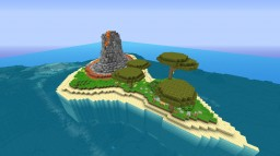 Volcanic Island - Inlcudes Volcano - Mini Hobbit House Minecraft Project
