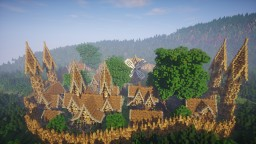 Timelapse Medieval Village Minecraft Project