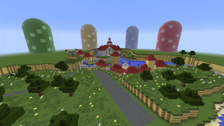 Super Mario The Mushroom Kingdom Minecraft Map