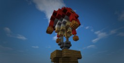 Steampunk Airballoon Minecraft Map & Project