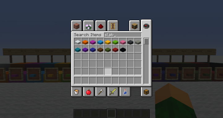 The slabs as they appear in the creative inventory.