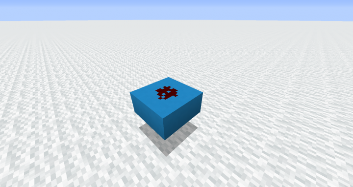 Redstone dust on a light blue slab, as an example of the intended purpose of the pack.