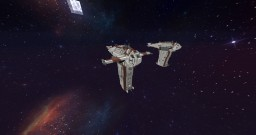 Star Wars MG-100 Star Fortress SF-17 Resistance Bomber Minecraft Project