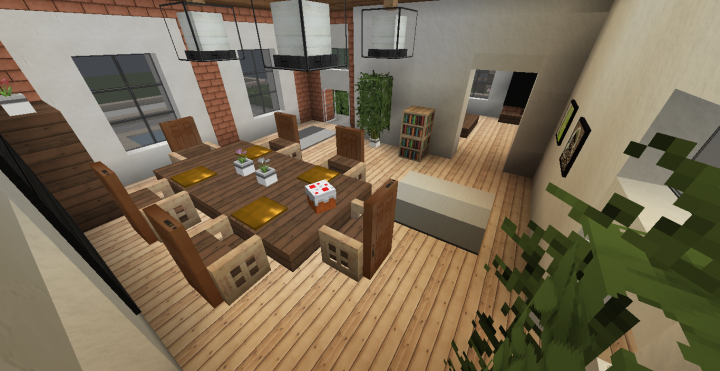 Clayleaf nearly fully furnished brick house minecraft - How to make a nice living room in minecraft ...