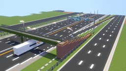 American Highway Expressway Design Minecraft Project