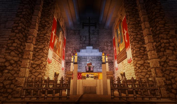 The altar of the church