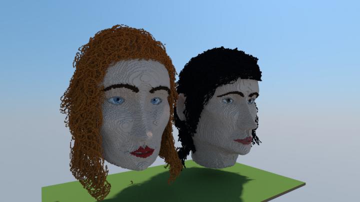 previously made faces.