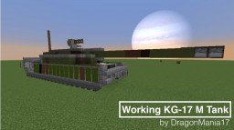 Working KG-17 M Tank (shooting, moving, turning,...) Minecraft Map & Project