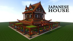 JAPANESE HOUSE/TEMPLE - SPEED TUTORIAL Minecraft Project