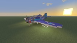 WWII U.S Grumman F6F Hellcat carrier based fighter Minecraft