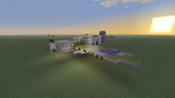 WWII British R.A.F Supermarine Spitfire fighter Minecraft Map & Project