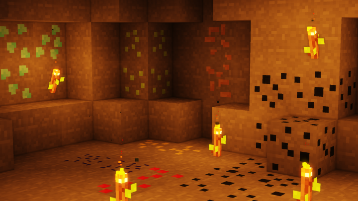 Different ore textures