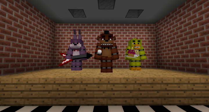 Five Nights at Freddy's 1 Map for 1 8! Minecraft Project