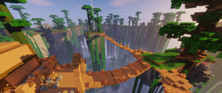 Player Build on Floating Islands