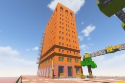 FINALLY COMPLETE! The Wick Building (facade and street), Youngstown, Ohio Minecraft Map & Project