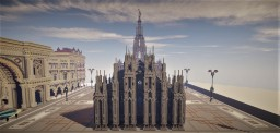 Duomo of Milan gothic cathedral Minecraft Map & Project