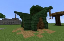 Wood-Elven large house Minecraft Map & Project