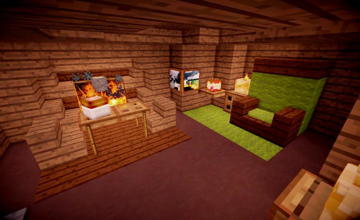 Team Deathmatch arena sample - Swamp arena - Ogre Hut interior