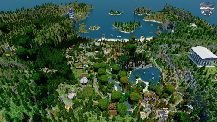 Camp Half-Blood in Minecraft