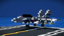 F/A-18 Super Hornet Carrier Fighter Jet Minecraft Map & Project
