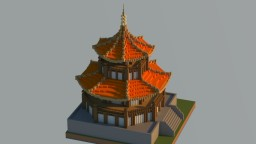 Chinese style building Minecraft Project