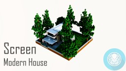 Screen Modern House | Contemporary Housing Minecraft Map & Project