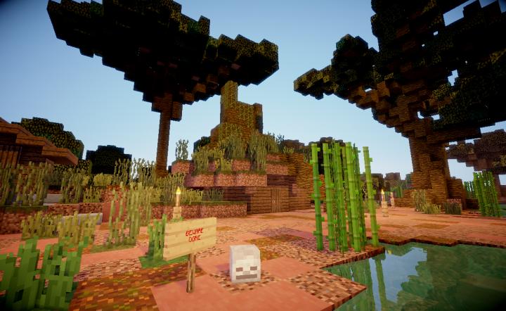 Team Deathmatch arena sample - Swamp arena - Ogre Hut exterior