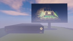 Xbox One X Console & Monitor Minecraft Map & Project