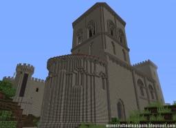 Replica Minecraft of the Hermitage of San Pedro de Tejada, Puente Arenas, Burgos, Spain. Minecraft Map & Project