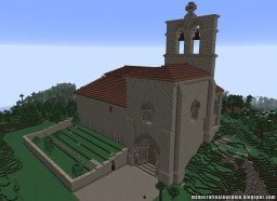 Replica Minecraft of the Hermitage of San Pantaleón de Losa, Burgos, Spain. Minecraft Map & Project