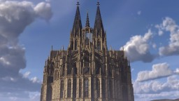 3:1 scale Cologne Cathedral Minecraft Map & Project