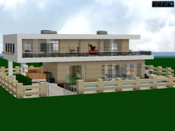 Modern Home, preview and tutorial Minecraft Project