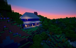 Blue House Minecraft Map & Project