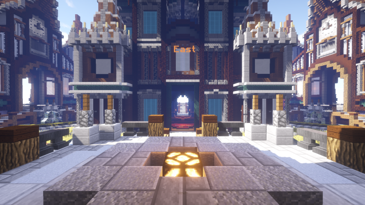 View of spawn from outside!