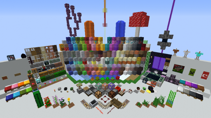 Screenshot of ervery item what minecraft has.
