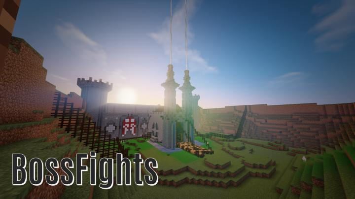 Our impressive BossFights castle, where you can fight custom bosses!