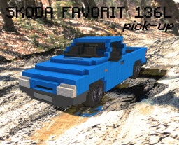 SKODA FAVORIT 136L PICK-UP 1.3 43kW (1989) Minecraft Project