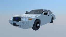 Ford Crown Victoria P71 civilian Police interceptor Minecraft Project