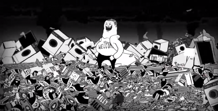 Video opening  Man. Nature vs man. Video by Steve Cutts.