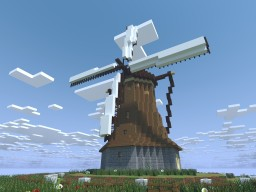 Realistic Old Water and Wind Mills. Minecraft Map & Project