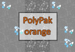 PolyPak Orange - keep it simple [256x] Minecraft Texture Pack