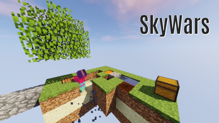 Inside a game of SkyWars