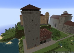Replica Minecraft of the Villaute Palace Tower, Burgos, Spain. Minecraft Project