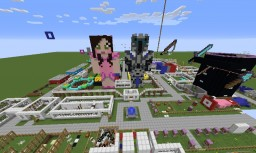Popularmmos & GamingWithJen Theme Park - UPDATE v1.0.2 Minecraft Project
