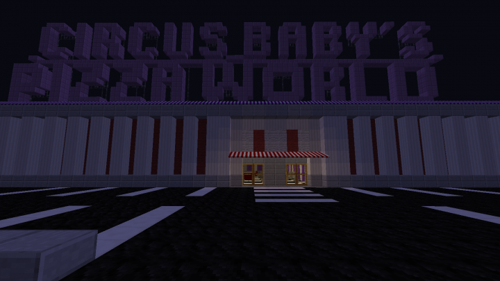 Circus Baby's Pizza World Minecraft Project
