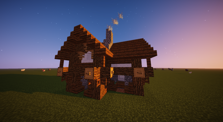 Small Medieval Rustic House Minecraft Map