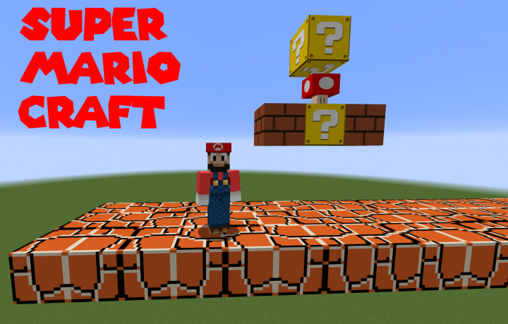 mario craft minecraft mario craft 3d items and wearable caps minecraft 2384
