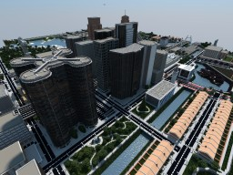 Mineopolis | Huge Modern City | DOWNLOAD Minecraft Map & Project