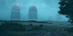Futuristic Power Station Minecraft Project