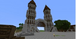 [SURVIVAL] Small medieval town Minecraft Project